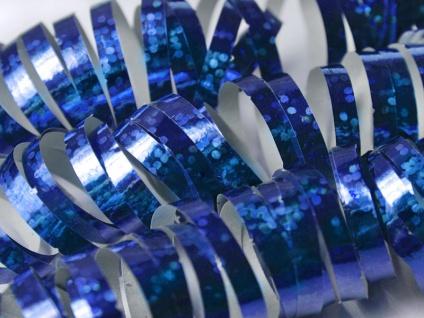 Holo Glitzer Luftschlangen Blau