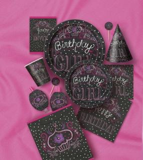 8 kleine Teller Happy Birthday Sweets - Vorschau 2
