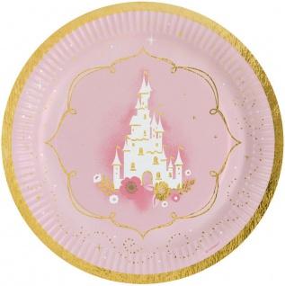 8 Papp Teller Prinzessin für einen Tag