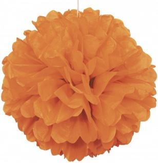 1 großer Papier Dekoball 40 cm in Orange
