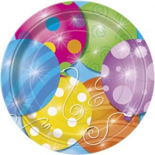 8 kleine Teller kunterbunte Ballon Party - Vorschau 1