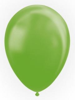 100 Luftballons in Limonen Grün mit Perlmutt Glanz 30cm