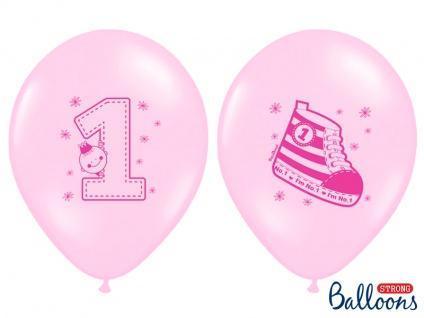 6 Erster Geburtstag Pastell Rosa Luftballons - Vorschau 2