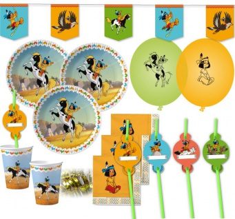 XXL 54 Teile Yakari Indianer Party Deko Basis Set - für 8 Kinder