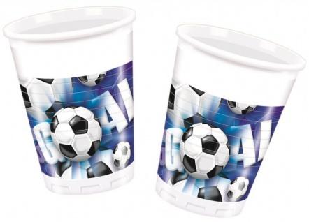 60 Teile Fußball Party Deko Set Blau 20 Personen - Vorschau 3