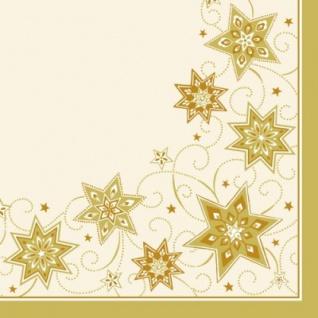 50 Dinner Weihnachts Servietten Sterne Creme