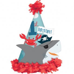 Party Hütchen zum 1. Geburtstag Ahoi kleine Piraten Bande