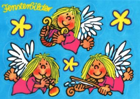 Fensterbild Postkarte Engelchen
