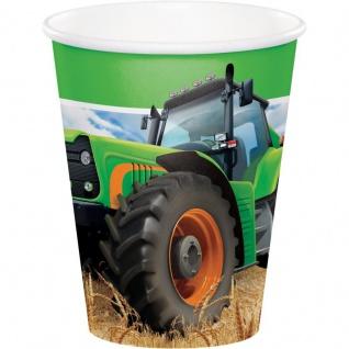 8 Becher Traktor Party