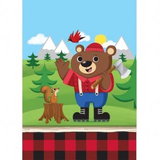8 Wald Tiere Party Tüten Holzfäll-Bär