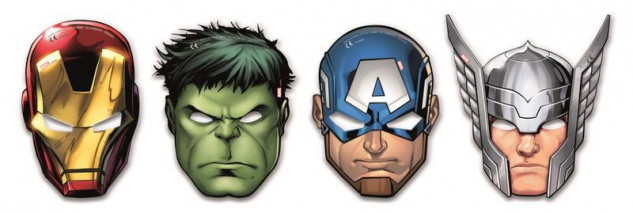 6 Masken MIGHTY Avengers