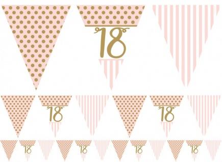 XL 44 Teile Pink Chic Party Deko Set zum 18. Geburtstag in Rosa und Gold Glanz für 8 Personen - Vorschau 5