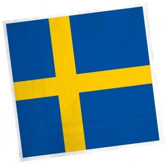 20 Servietten Schweden Party Deko
