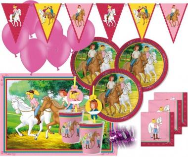 XXL 62 Teile Bibi und Tina Party Deko Set - für 6-8 Kinder Geburtstag