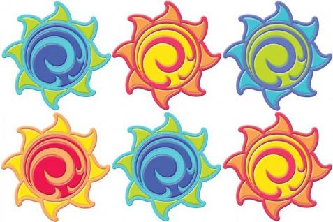 6 Sonnen Untersetzer für Becher