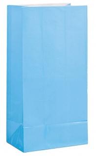 12 Papiertüten Hellblau