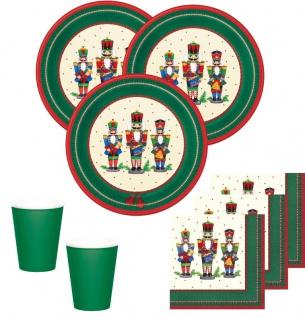 48 Teile Nussknacker Party Set für 16 Personen zur Weihnachtsfeier