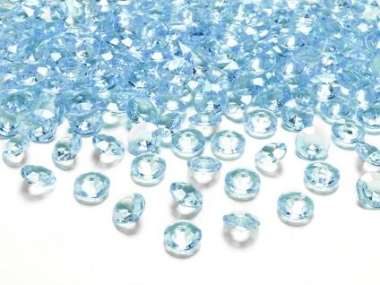 30g kleine Deko Plastik Diamanten türkis - 12 mm Durchmesser