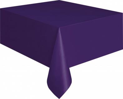 Plastik Tischdecke Violett