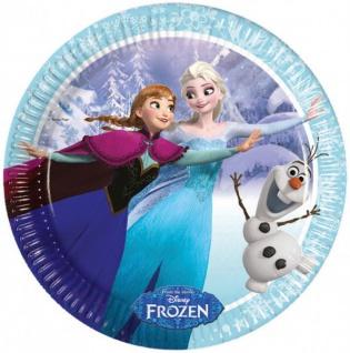 8 Teller Frozen Eiskönigin Iceskating