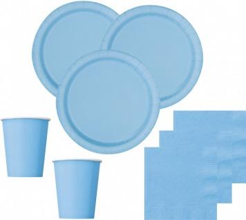 36 Teile Party Deko Set Hellblau für 8 Personen