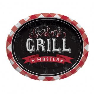 8 ovale Papp Teller Grill Meister