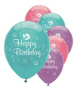 50 Luftballons kleine Meerjungfrau