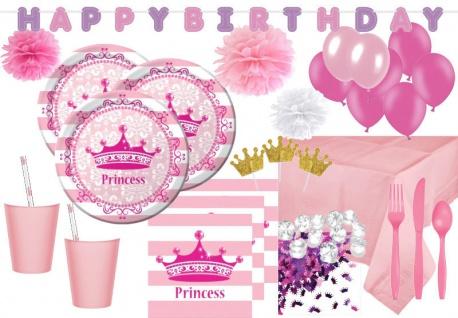 101 Deluxe Prinzessinnen Party Deko Set für 8 Personen Royal Princess - Krönchen