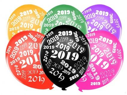 6 bunte Luftballons 2019