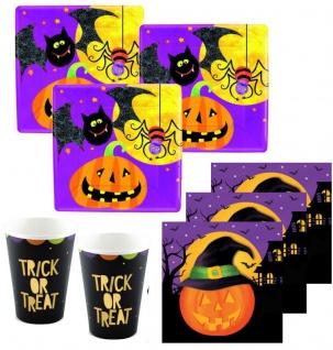 48 Teile kleines Fingerfood Halloween Deko Set Grusel Freunde für 16 Kinder - Vorschau 1