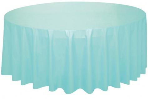Runde Plastik Tischdecke in Pastell Mint