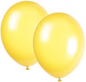 10 Luftballons Gelb