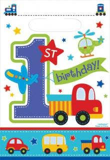8 Party Tüten Erster Geburtstag Alles an Bord