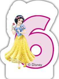 Disney Prinzessin Zahlenkerze 6