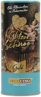 Glitzer Schnee in Gold