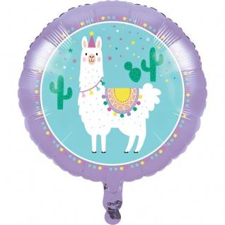 Folien Ballon bunte Lama Party