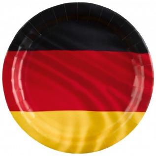 8 Papp Teller Deutschland Flagge - Vorschau