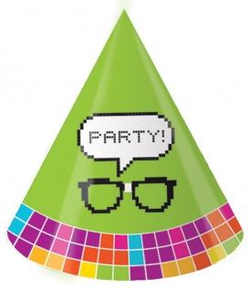 8 Party Hütchen Get Nerdy Pixel Party