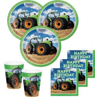 XL 49 Teile Traktor Geburtstags Party Deko Set 8 Personen - Vorschau 2