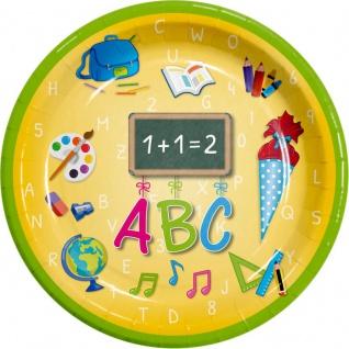 10 Teller zum Schulanfang oder Einschulung