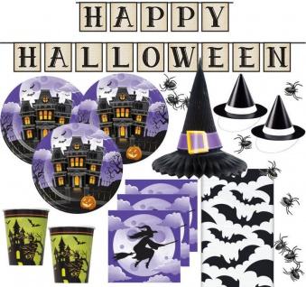 XXL Halloween Party Set Hexen Spukhaus für bis zu 8 Personen