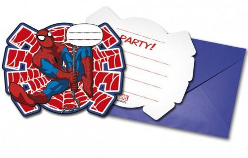 6 Einladungskarten Spider-Man Ultimate Power