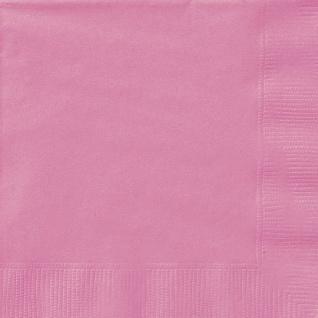 20 Servietten helles Pink