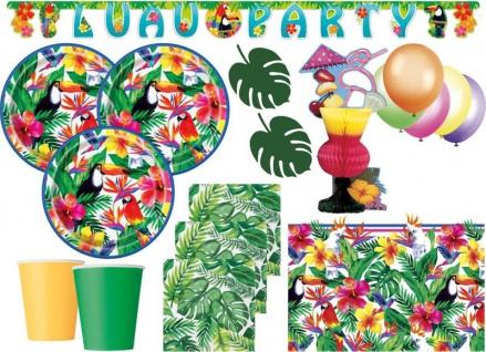 XL 67 Teile Tropical Luau Party Deko Set 16 Personen