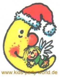 Weihnachts Mond Mini Tattoo