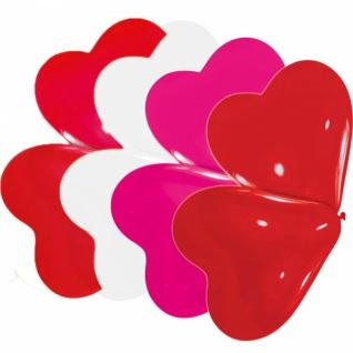 10 kleine Herz Ballons Pink Weiß und Rot
