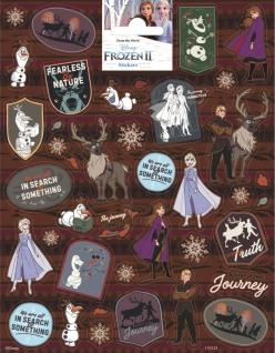 1 Bogen Eiskönigin Papier Sticker M