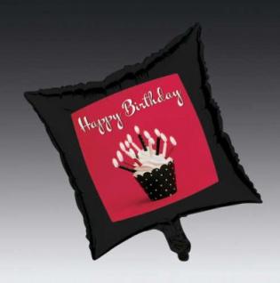 Metallic Folien Ballon Happy Birthday