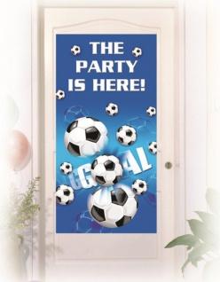 Türposter Fußball blau