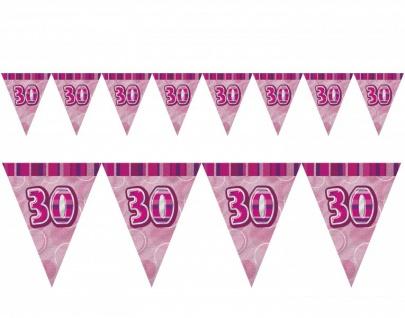XXL Mega 73 Teile zum 30. Geburtstag Party Set in Pink für 16 Personen - Vorschau 4